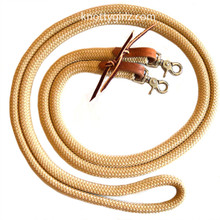 Knotty Girlz Natural Horsemanship Loop Sport Reins Yacht braid Double Braid Polyester waterstraps and snaps