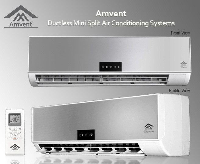 Amvent a37gw2c elg ductless mini split ac unit ac world for 12500 btu window air conditioner