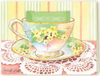 Vintage Floral Teacup Card
