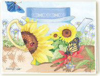 Sunflower Teacup Card