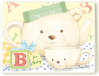 "390 ""B"" For Baby Teacup Card"