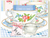 391 For My Sister Teacup Card