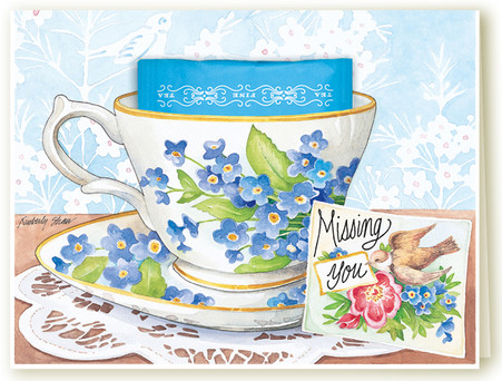 395 Missing You Teacup Card