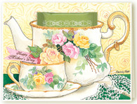 338 Mother's Day Roses Teacup Card