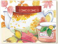 353 Fall Leaves Teacup Card