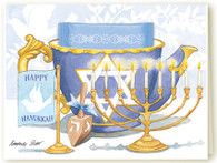 344 Hanukkah Teacup Card