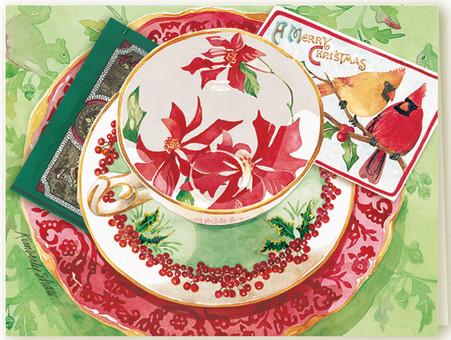 368 Woodland Holiday Teacup Card
