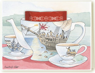 365C Boston Tea Party Teacup Card
