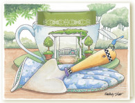 330C Garden Swing Teacup Card
