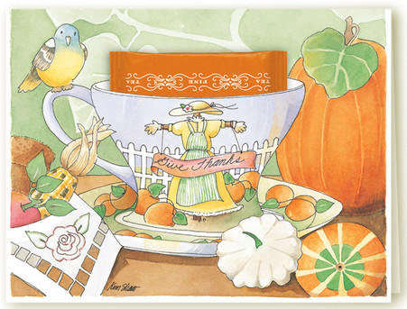 354C Give Thanks Teacup Card