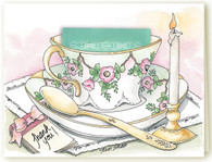 312C Thank You Candle Teacup Card