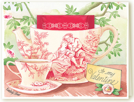 358C To My Valentine Teacup Card
