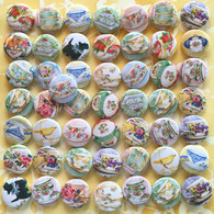50 Assorted Tea Pins