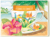347 Bird of Paradise Teacup Card