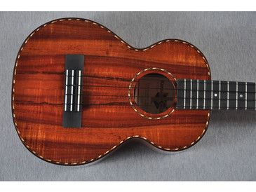 Kamaka Long Neck Tenor Deluxe Ukulele HF-3LD - 141315 - Top View