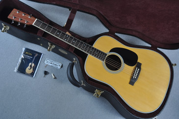 """Martin Custom Shop D-35 Cambodian Rosewood 1 3/4"""" Nut Acoustic Guitar #1878839 - Case View"""