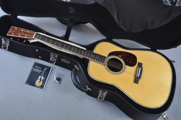 Martin Custom Shop D-45V Adirondack Madagascar Acoustic Guitar #1784971 - Case View