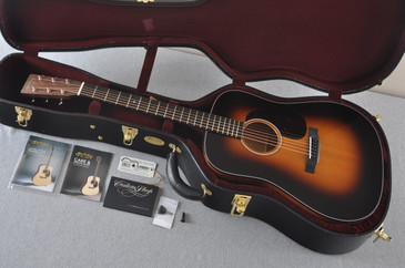2017 Martin Custom Shop D-18 VTS Adirondack 1935 Sunburst Acoustic Guitar #2083135 - Case