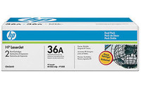 CB436AD DUAL PACK HP ORIGINAL TONER  for use in HP Laserjet P1505, M1522N/M1522MPF, 1522NF MFP, CB436A x 2