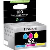 LEXMARK #100 COLOUR INK 3-PACK