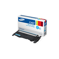 CLT-C407S Cyan Toner Cartridge for CLP-325W & CLX-3185FW; 1,000 Page Yield