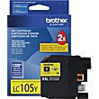 Brother LC105 Yellow Ink Cartridge, Extra High-Yield