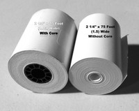 "2 1/4"" x 1.5 Coreless"" (75 Feet) Grade A Thermal Rolls. 100/Per Case"