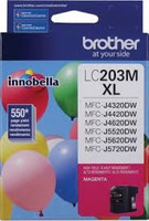 Brother LC203MS Compatible Magenta Ink Cartridge, High-Yield