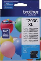 Brother LC203CS Compatible Cyan Ink Cartridge, High-Yield
