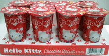 Hello Kitty Biscuit with Chocolate Flavor 2trays x 8pcs x 1.76 oz.