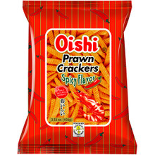 OISHI PRAWN CRACKERS 100G - SPICY FLAVOR