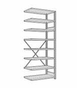Rousseau Open Shelving Adder Unit SRA1021 Light Gray