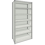Closed Steel Shelving with 7 Shelves