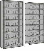 Closed Shelving with 28 Bins, Starter & Adder