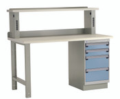 Workbench with Electronic Riser & Pedestal