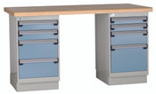 Workbench, Double Pedestal