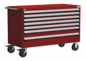 Mobile Drawer Cabinet Rousseau Heavy Duty R5BJE-3011 Flame Red