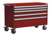 Mobile Drawer Cabinet Rousseau Heavy Duty R5BJG-3007 Flame Red