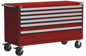 Mobile Drawer Cabinet Rousseau Heavy Duty R5BKG-3033 Flame Red