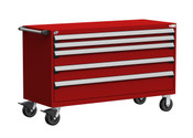 Mobile Drawer Cabinet Rousseau Heavy Duty R5BKE-3023 Flame Red