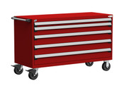 Mobile Drawer Cabinet Rousseau Heavy Duty R5BKE-3029 Flame Red