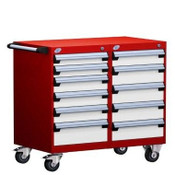 L3BED-2802L3B Flame Red & White