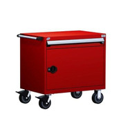 Mobile Drawer Cabinet Rousseau Heavy Duty R5BDD-2801 Flame Red