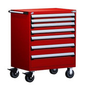 Mobile Drawer Cabinet Rousseau Heavy Duty R5BDD-3801 Flame Red