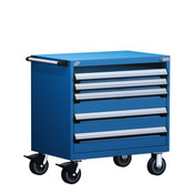 Mobile Drawer Cabinet Rousseau Heavy Duty R5BHE-3015 in Avalanche Blue