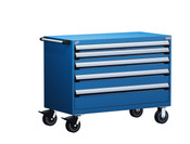 Mobile Drawer Cabinet Rousseau Heavy Duty R5BHE-3004 in Avalanche Blue