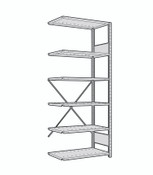Rousseau Open Shelving Unit SRA1008 Light Gray