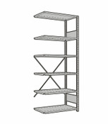 Rousseau Open Shelving Adder Unit SRA1037 Light Gray