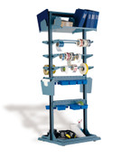 "Multi-Purpose Stand, Labeling Station, Fixed, 32"" x 27"" x 85"" high"