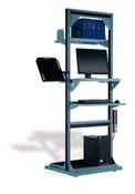 """Multi-Purpose Stand, Computer Station, Fixed, 32"""" x 27"""" x 85"""" high"""